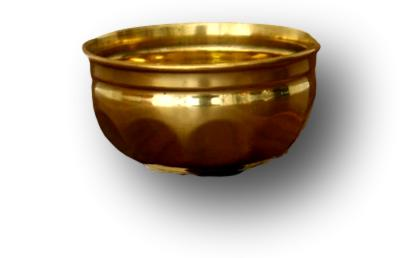 Brass quality bowl small- lotus design