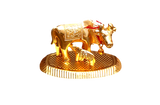 Brass Kamadhenu idol gold plated- small