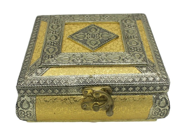 Silver and golden color fruit Box