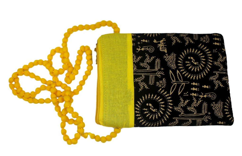 Sling with printed design Yellow