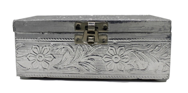 Silver Color Pooja Box