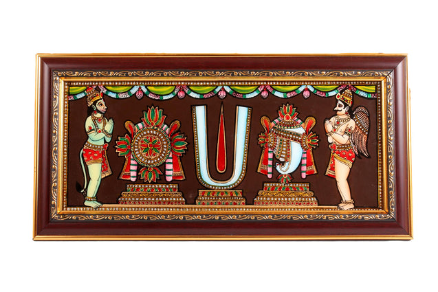 Tanjore Style Glass Painting Tiruman Wall Hanging
