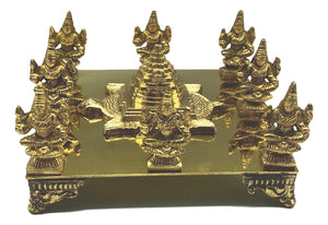 Ashtalakshmi  With Meru mountain in the centre - Brass