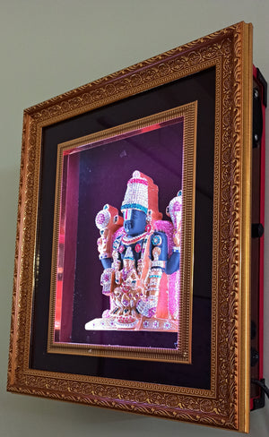 Sri Balaji LED Frame / Lord Venkateswara With Lakshmi