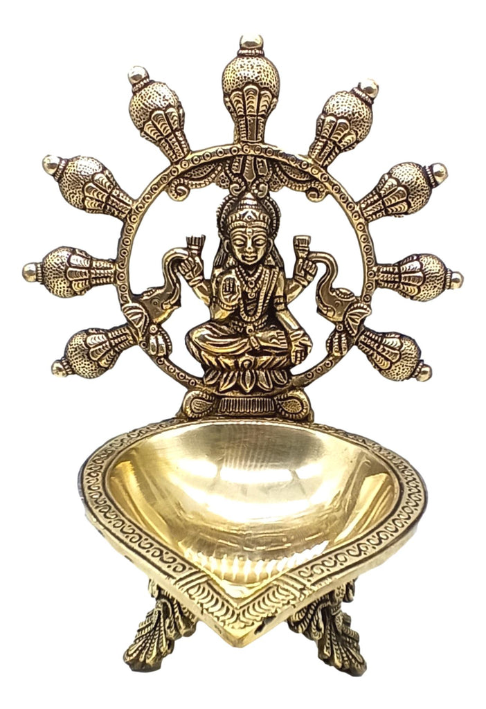 Brass Gaja Lakshmi Lamp / New Design For Gifting option / 8.5 inches high