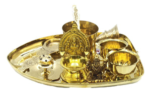 Brass Small Pooja Set / Best Occasional Spiritual gift