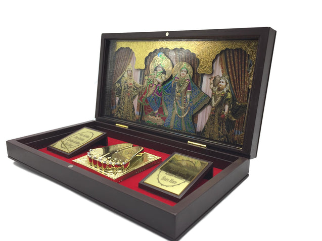 Sri Krishna With Sripadam Box - Occasional Gift Box / Offical Gift