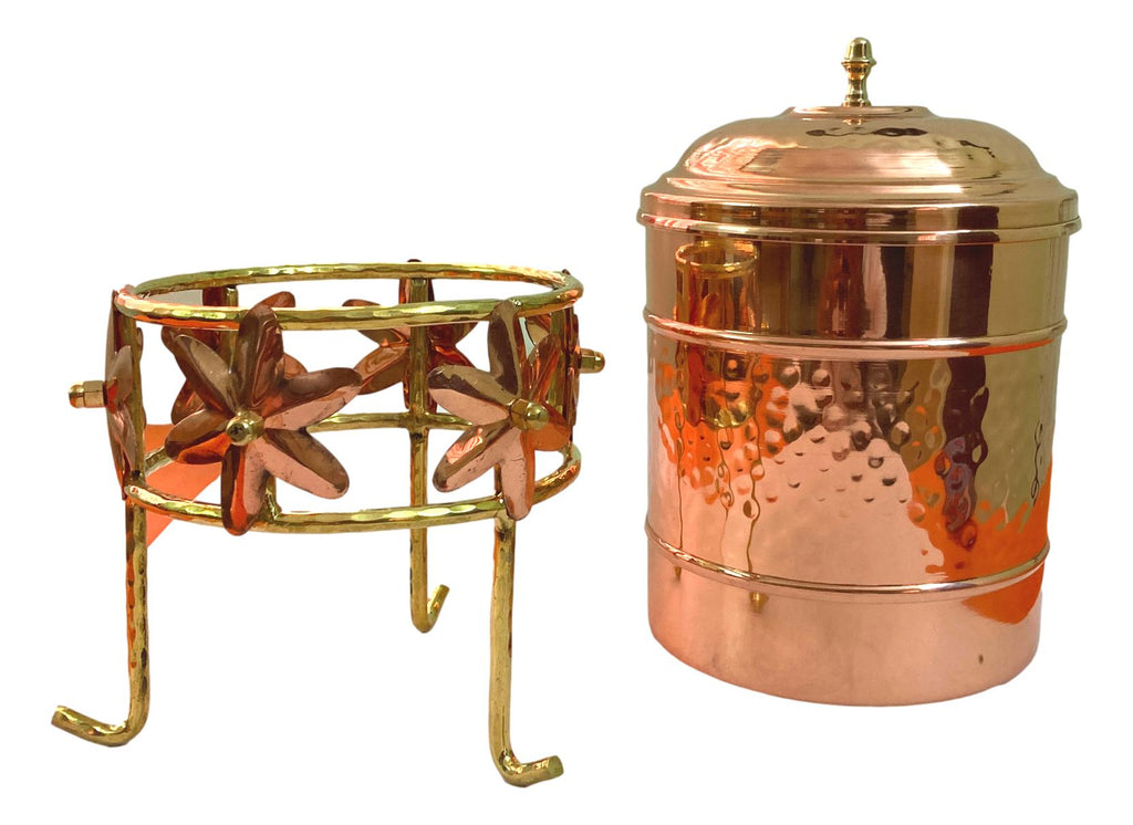 Copper Tank Container With Stand / 3.5 Liters/ Home and Gifting Purpose