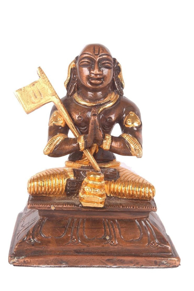 Swami Ramanuja Vigraham - High quality finish with 24 carat gold plated - 1 left in stock