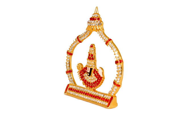 Lord Balaji stone work with arch- car dashboard