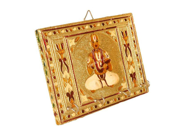 Swami Desikan - Key Holder With Beautiful Meenakari Art Work - Size 7 x 5