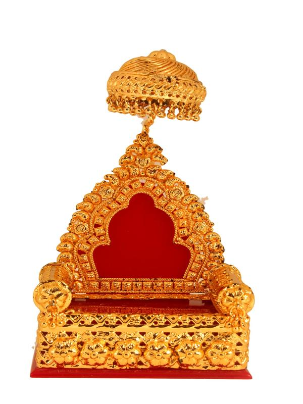 Gold Coated Simaasan / Peetam for Vigraham