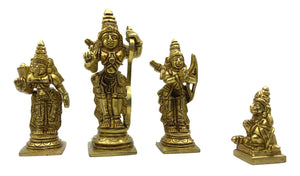 Sri Ram Dharbar Brass Set 4 inches