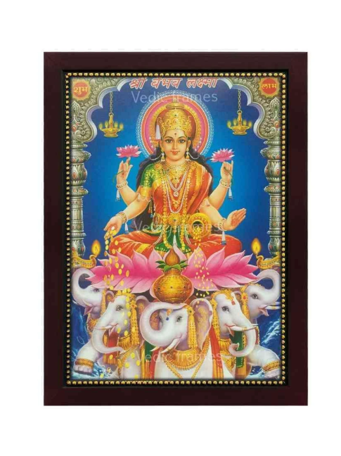 Goddess Vaibhav Lakshmi Photo frame / Blue colored background