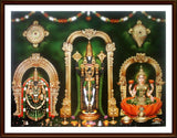 Lord Venkateswara with Thayar and Sri Lakshmi - Frame