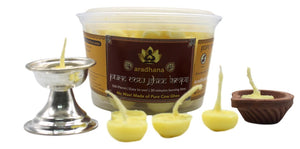 Cow Ghee Lamps (100 Numbers) - Pure & Original Ghee (No Wax)