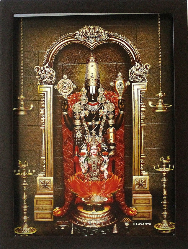 Lord Venkateswara with Sri Lakshmi - Frame