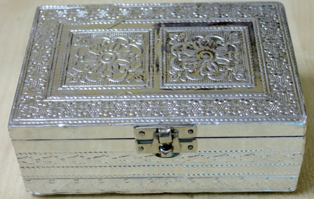 Gift Box - Hand Crafted with Metal Embossed Sheet & Velvet Interiors
