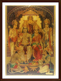 Lord Rama with Sita, Lakshmana - Frame