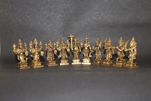 Dasavatharam Set Small - Brass