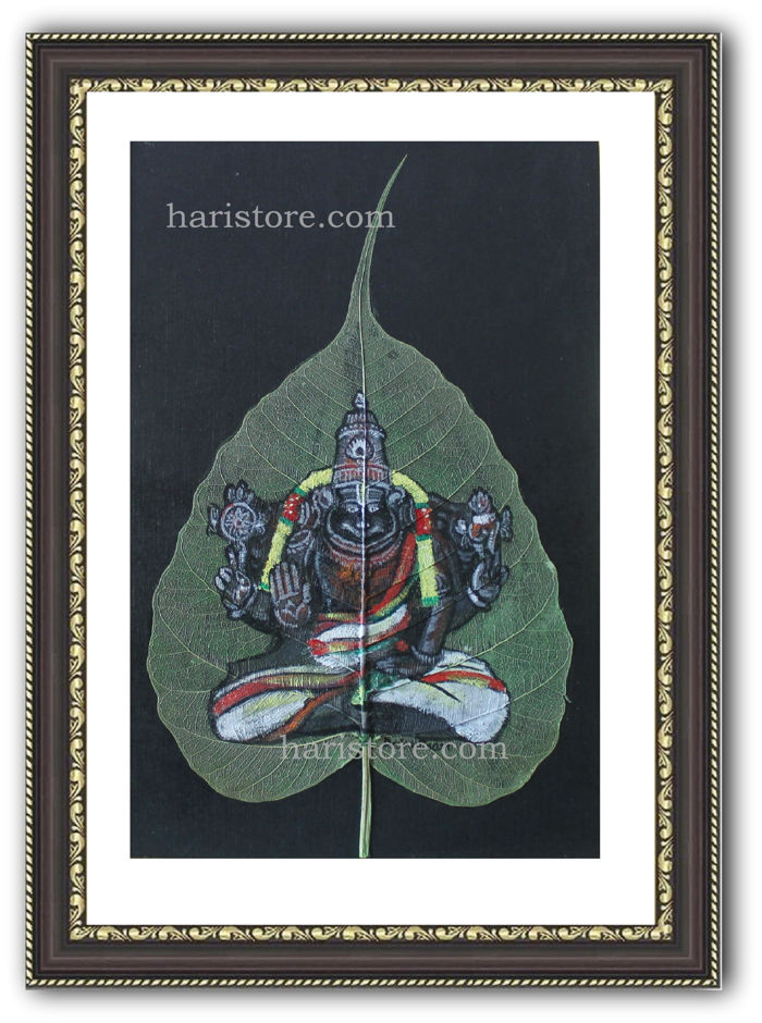 Ahobilam Narasimha Swamy Temple - Leaf Painting