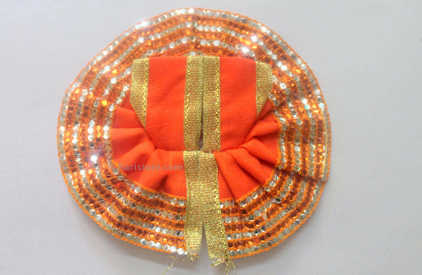 Laddu Gopal Dress - Handmade Handicraft (Orange)