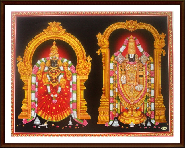 Sri Balaji and Lakshmi - Frame
