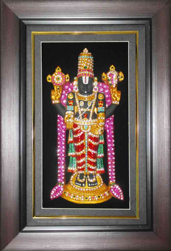 Srinivasar Photo Frame with LED Lighting and Mantra Chanting