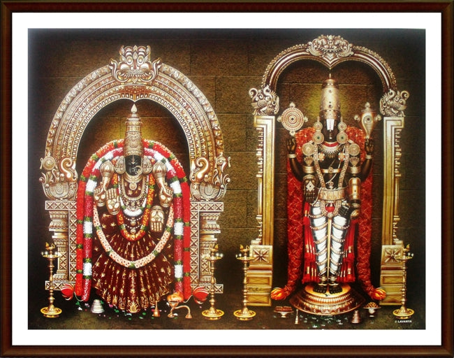 Lord Venkatachalapathy with Thayar - Frame