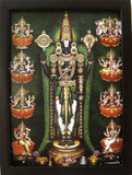Lord Venkateswara with Sangu Chakra  and  Ashtalakshmi - Frame