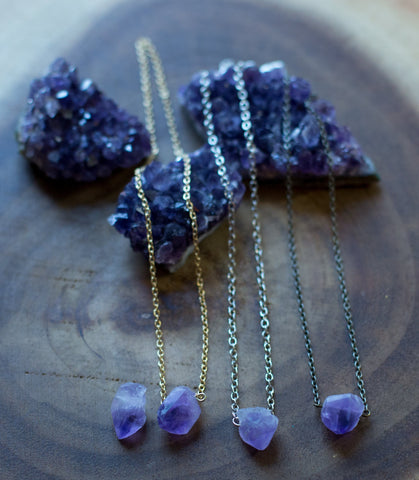 Amethyst Point Choker