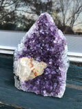 Amethyst Geode with Calcite