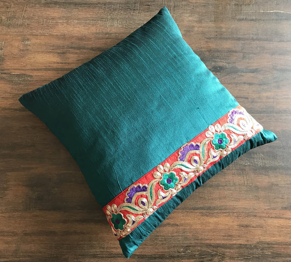 Silk Cushion And Throw PillowBohemian Decorative PillowCrazy Awesome Indian Silk Decorative Pillows