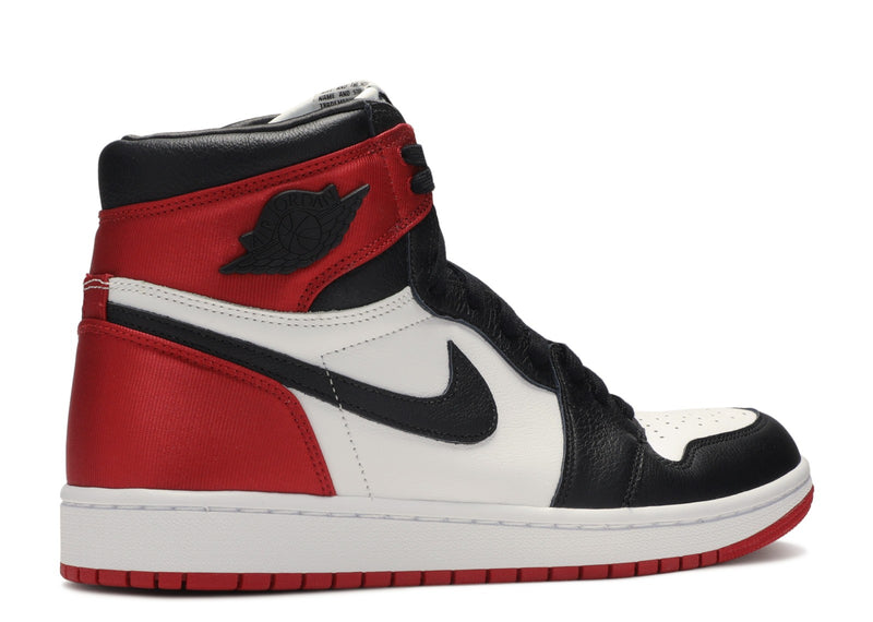 Jordan 1 Retro High Satin Black Toe (W)