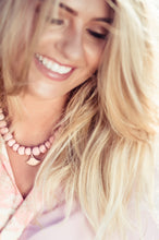 "Clay Bead Necklace ""Ayize"" Pink Blush - Bardot Boho"