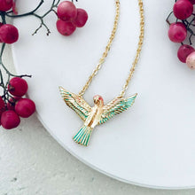 Enamelled Short Love Bird Pendant - Bardot Boho
