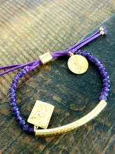 Bracelets to Change our World : Purple Amethyst Natural Stone 22kt Gold Vermeil Bracelet