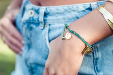 Bracelets to Change our World: Green Onyx 22kt Gold Vermeil Bracelet - Bardot Boho