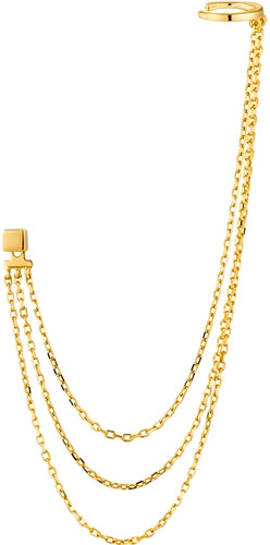 Draping Swing Ear Cuff 14kt Gold - Bardot Boho