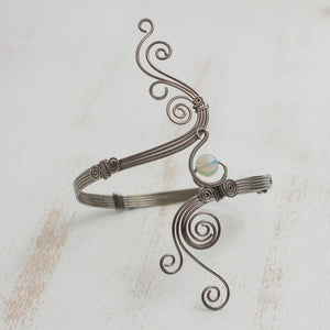 "Opal Arm Band - ""Fantastic Waves"" - Handmade in Brazil Fairtrade - Bardot Boho"