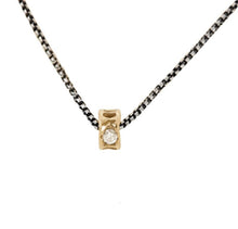 Necklace Vertebrae Bead 10kt Gold Necklace with Diamonds - Bardot Boho