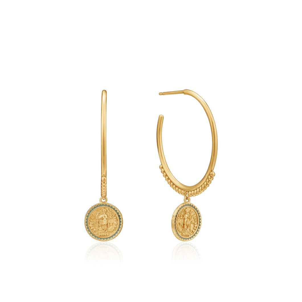 Ania Haie Emperor Hoop Earrings 14kt Gold Plated - Bardot Boho