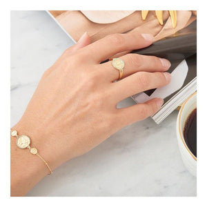 Ania Haie 14kt Gold Plated Emperor Adjustable Ring - Bardot Boho