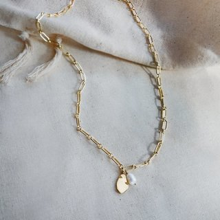 Necklace Freshwater Baroque Pearl 14kt Gold Necklace - Bardot Boho