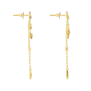 Earrings Daydreamer Gold Earrings - Bardot Boho