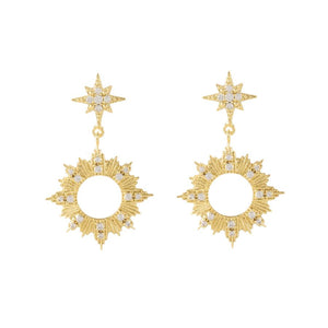 earrings Sunseeker Gold Earrings 14K Gold - Bardot Boho