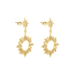 Sunseeker Gold Earrings 14K Gold - Bardot Boho