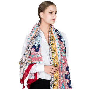 Luxury Famous Bandana Cotton Scarf Shawl