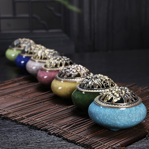 Ceramic Incense burner with Copper cover