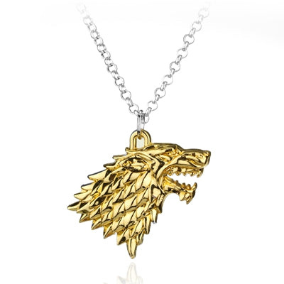 N187 Gold Wolf Pendant Necklaces